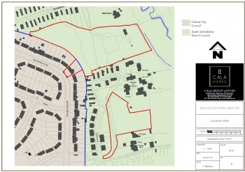 Plan of proposed Bayswater Farm development