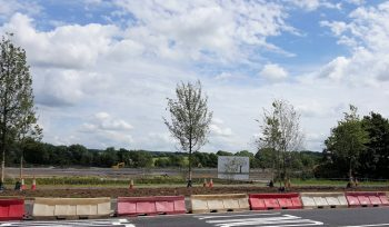 The Barton Park site from the A40