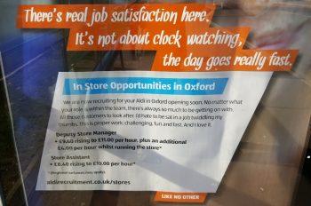Aldi recruitment poster