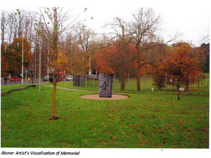 Artist's impression of IBMT memorial