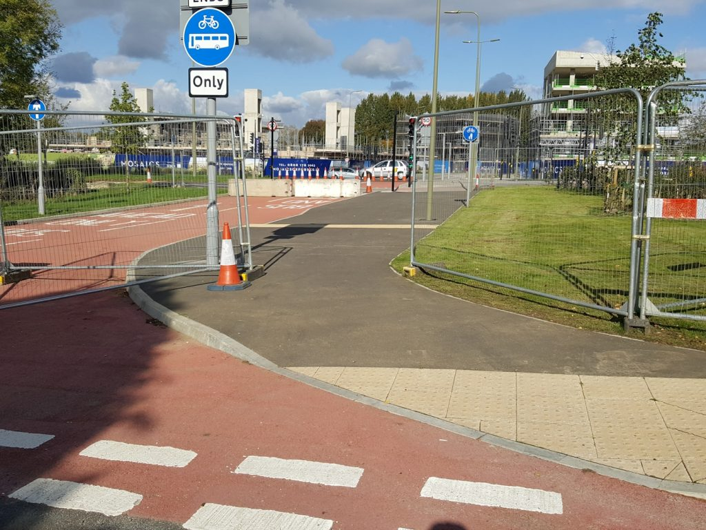 Access from Foxwell Drive on foot and by bike