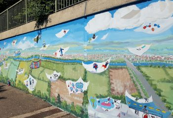 Marston underpass mural