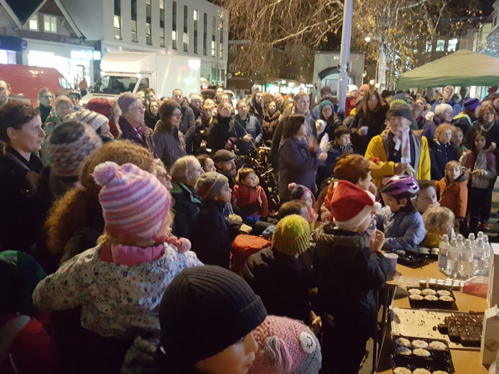 A good crowd for the lights and carols 30 Nov 2018